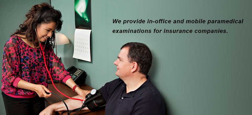 MedPhysical Plus provides in office and mobile paramedical examinations for insurance companies